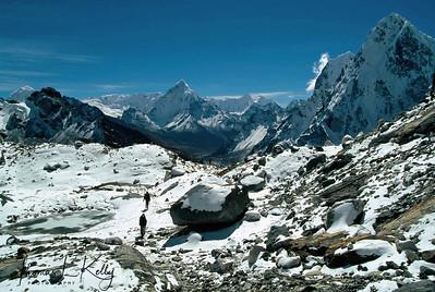 Mountaineers at Everest region, Solu Khumbu, Nepal.