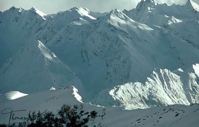 Himalayan range.  Solu Khumbu, Nepal.