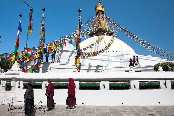 Bouddhnath stupa. Kathmandu, Nepal.