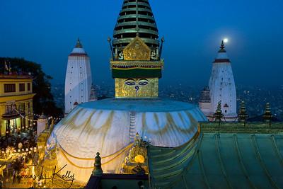 Swayambhunath Stupa on the Buddha Jayanti.