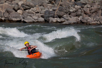Kayaking in Buri Gandaki River. Nepal