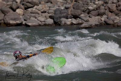 Kayaking in Buri Gandaki River. Nepal