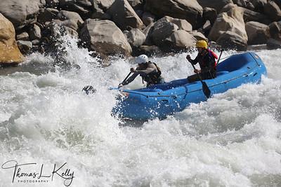 White Water rafting.  Trisuli, Nepal.