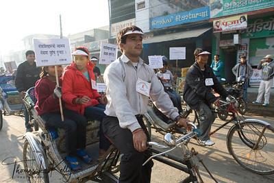 World AIDS Day parade. Dhangadi, Nepal.