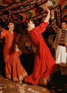 Hijras entertain at a wedding celebration. Qissa Khawani, or the Storyteller Bazaar, Peshawar, Pakistan.