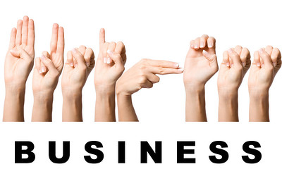 nice human hand make sign language concept business