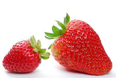 Strawberries studio isolated on white background
