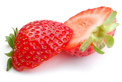 Strawberry studio isolated on white background