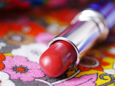 lipstick on color background
