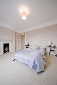 bedroom in newly converted house clean design modern