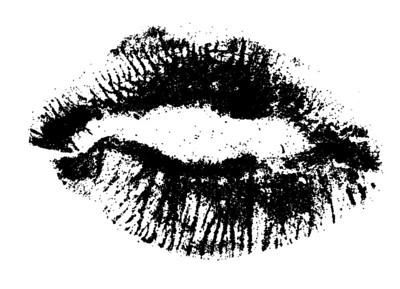Hi resolution Close up of female Lips isolated on a white backround
