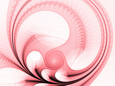 Spinning, arching threads (computer generated, fractal abstract background)