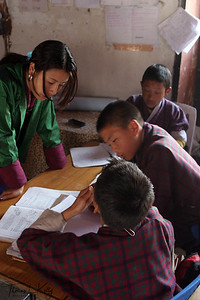 Classroom. Paro Valley, Bhutan.