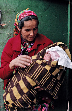 These women and children are given free medications and health treatment from an AID Agency. Tazikistan; Voesha