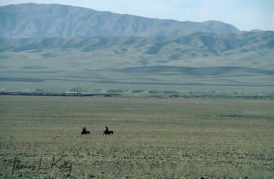 Bleak and desolate landscape of Kurgantulea, Tajikistan Kurgentubee, Tazikistan
