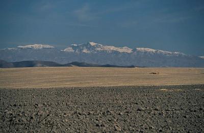 Bleak and desolate landscape of Kurgantulea, Tajikistan. Kurgentubee, Tazikistan