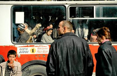 Dushambee bus stop. Tazikistan;Dushanbee