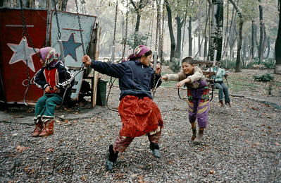 Children playing in the park. Tazikistan;Dushanbee