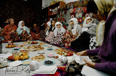 The Saving and Credit Groups are mostly widowed women or young girls who lost their father in the war. They all meet every month for an update and follow-ups. Tazikistan;Dushanbee