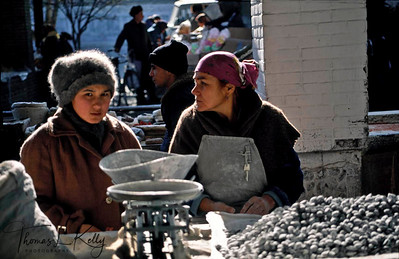 Samarkand city – where many widows migrate along with their family to make living by selling home made products eg.., sweets, sausages, and nuts. Tazikistan; Voesha