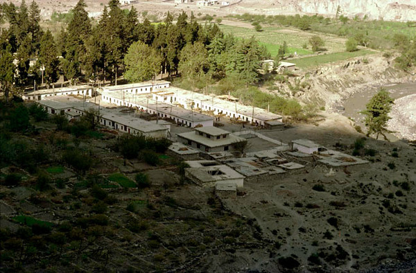 Overview of Tibetan Refugee Camp in Marpha, Kali Gandaki region, Nepal;