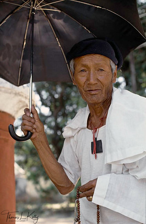 Old Tibetan Refugee at Tibetan Old People Home in Rajpur, India.
