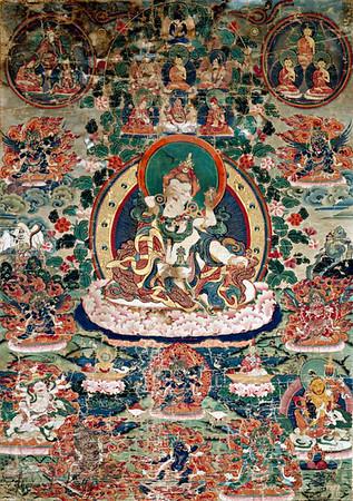 Padma Sambahava/Yeshi Tsogyal  thangka.