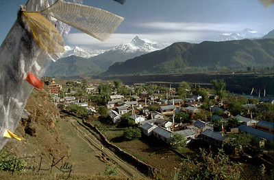 Overview of Tibetan Refugee Camp in Hangajha, Pokhara, Nepal.