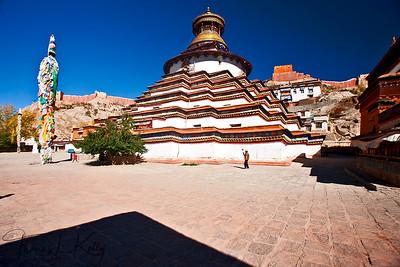 The largest stupa in Tibet, the Gyantse Kumbum.