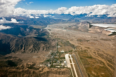 Aerial view of Lhasa.