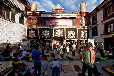 Jokhang Monastery in Barkhor, Lhasa, Tibet.