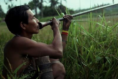 A Makuna hunter with a blow gun.
