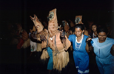As the spirit dancers glide through their moves they are joined by the women, demonstrating the male-female union of fertitlity and longevity. The dancers eventually approach a bowl of peach palm drink guided by Mukuna women. Women are considered the ultimate masters of life, not only are they the procreators of new generations of clan members, but also  the 'mothers' of the cultivated plants. Every women fulfils in her life the  procreative role of the Ancestral Mother, the female creator of the world and the mother of all plants.