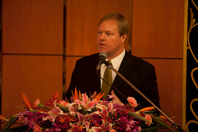 Steven Schwankert, East Asia Chapter Chair, The Explorers Club. The Explorers Club was founded in New York in 1904 celebrates China's role in exploration. Some of the World's greatest explorers gathered at 108 year old club's dinner conference. Beijing, China. www.explorers.org