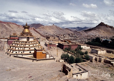 The largest stupa in Tibet, the Gyantse Kumbum.