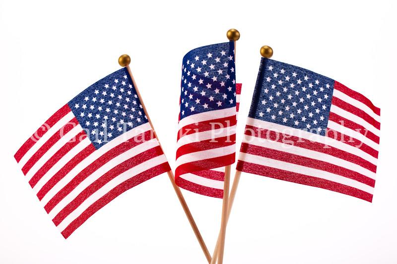 Three American Flags.