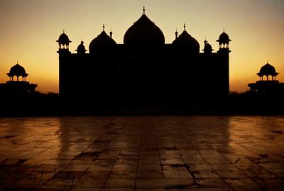 Taj Mahal complex.  Agra, India