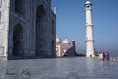 Taj Mahal is regarded as one of the eight wonders of the world, and some Western historians have noted that its architectural beauty has never been surpassed. The Taj is the most beautiful monument built by the Mughals, the Muslim rulers of India. Agra, India.