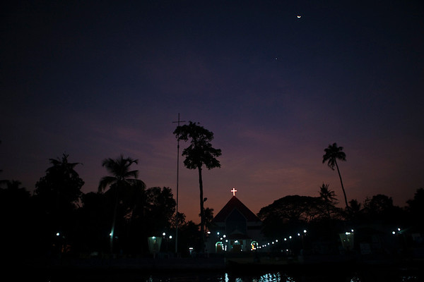 Scenics of Cochin, India.