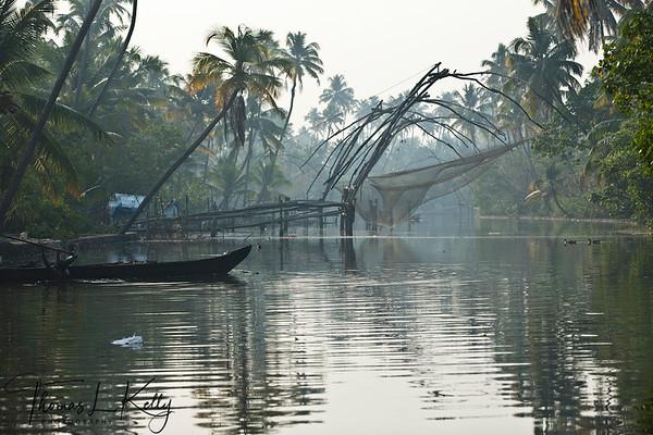 Chinese Fishing Net . Cochin, India.