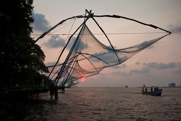 Chinese Fishing Net at Arabian sea.