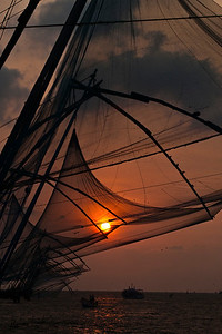 Chinese Fishing Net at Arabian sea.
