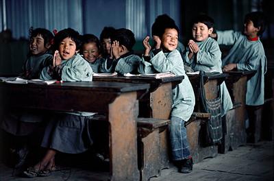 School Kids in class. Darjeeling, India.