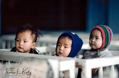Kids at Self Help Refugee Camp Center. Darjeeling, India.