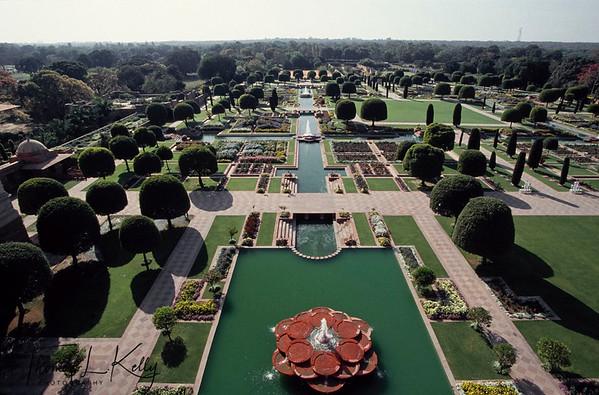Over view of Rashtrapati Bhavan. New Delhi, India.