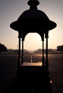 Entrance to Rastrapati Bhawan. New Delhi, India.