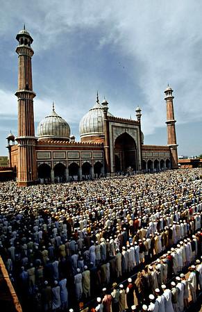 Prayer, Jama Masjid New Delhi, India.