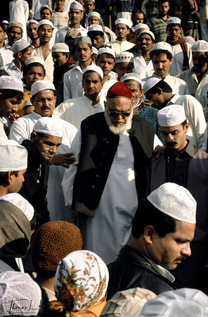 Moslims at Jama Masjid for Prayer.  Jama Masjid, New Delhi, India.