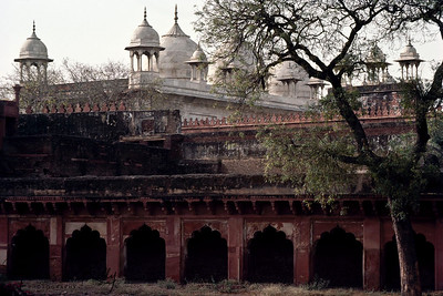 Interior of Red Fort. New Delhi, India