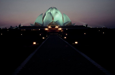 Bahai Temple. New Delhi, India.